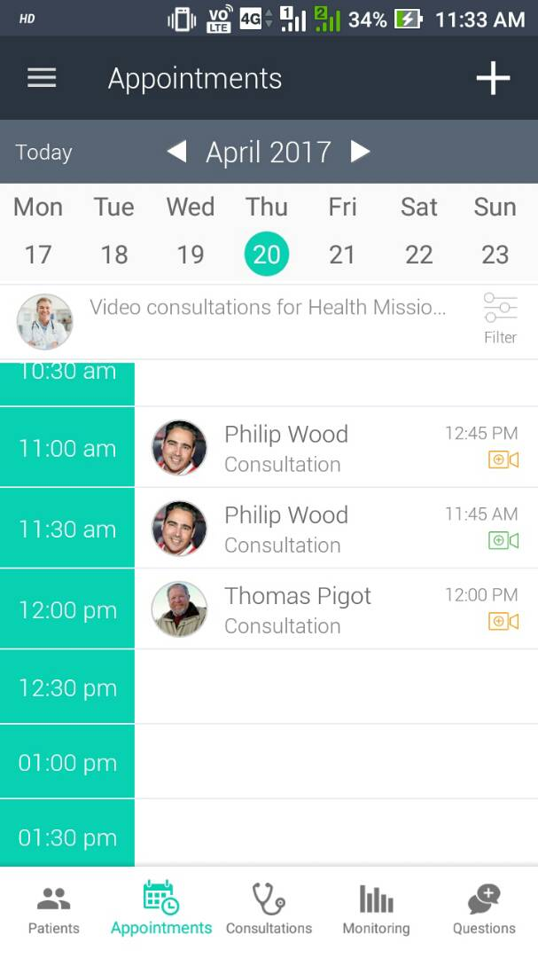 Video Appointment Calendar