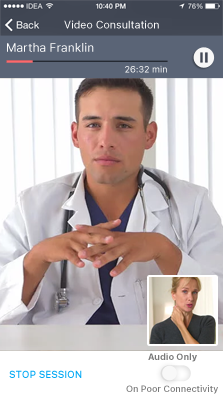 Video Consultation between provider and patient
